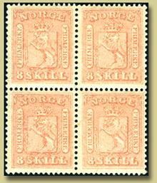brukt norsk frimerke